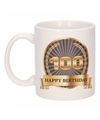 Luxe verjaardag mok / beker 100 jaar