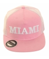 Roze Miami snapback pet